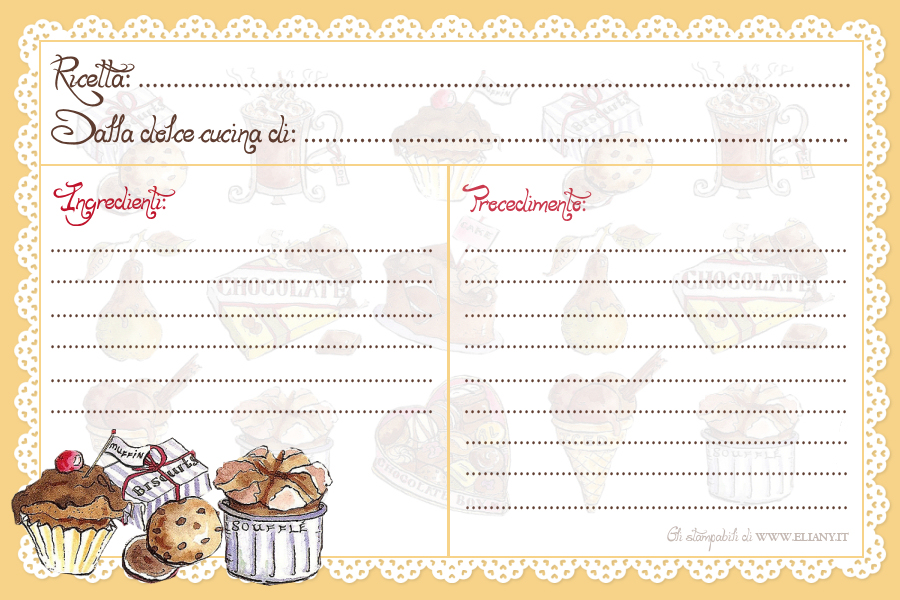 Кулинарные карточки с рецептами